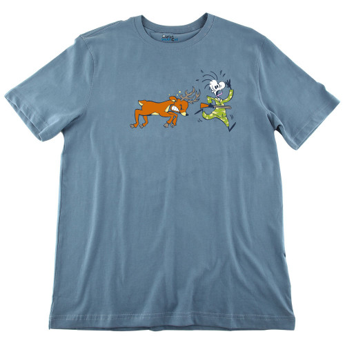 Mens Deer Chasing Ultra Soft Tee Shirt