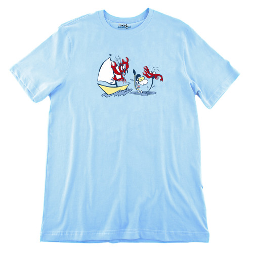 Mens Catching Lobster Ultra Soft Tee Shirt