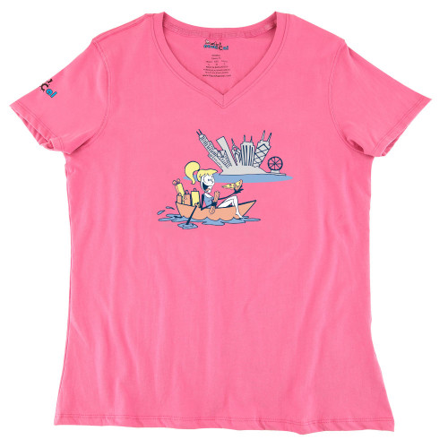 Womens Chicago Boating Ultra Soft Tee Shirt