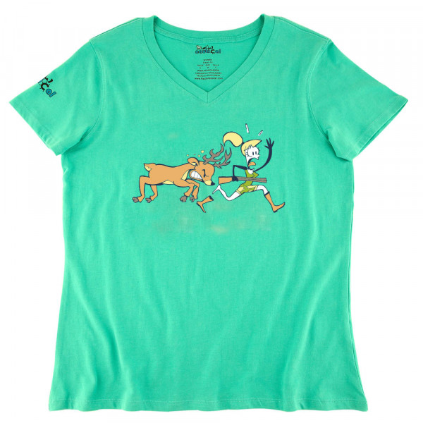 Womens Deer Chasing Ultra Soft Tee Shirt