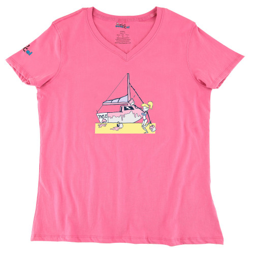 Womens Painting Boat Ultra Soft Tee Shirt