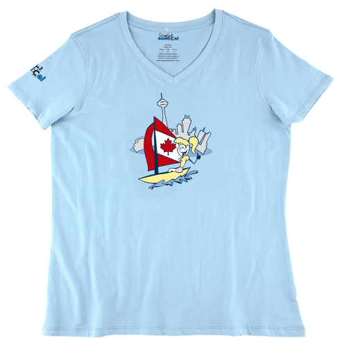 Womens Sailing in Toronto Ultra Soft Tee Shirt